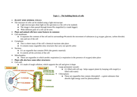 Biology notes for revision