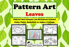 Spring, Fall Art Project Pattern/Pop Art Leaves
