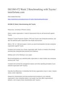 ISCOM 472 Week 2 Benchmarking with Toyota//tutorfortune.com