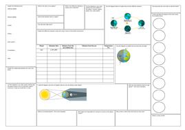 KS3 Space Revision Mat