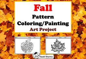 Fall Leaves Pattern Coloring Painting Art Project