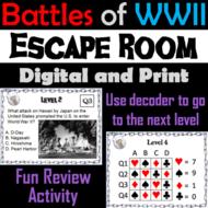 Major Battles of World War 2 Escape Room Social Studies
