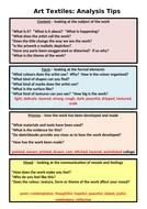 Art Textiles Analysis Framework