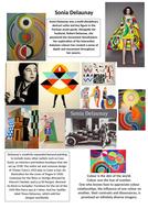 Art Textiles Sonia Delaunay Visual Handout