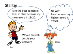 PPT Activity  Puzzle using the different averages suitable after the basics have been covered.KS3