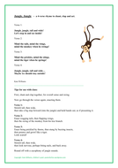 Jungle, Jungle - rhyme in 4 verses + actions (simple)