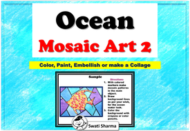 Ocean Mosaic Art Project, Set 2