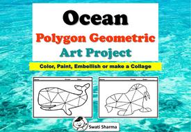 Ocean Polygon, Geometric Art Project