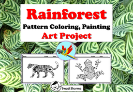 Rainforest Pattern Coloring, Painting Art Project