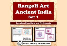 Everyday Art, Rangoli/Mandala from Ancient India, Diwali Motifs, Set 1