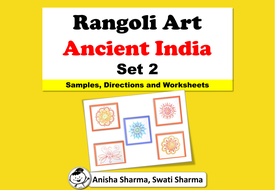 Everyday Art, Rangoli/Mandala from Ancient India, Diwali Motifs, Set 2