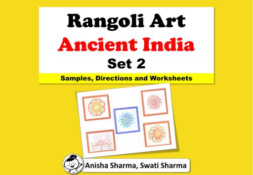 Everyday Art, Rangoli/Mandala from Ancient India, Diwali Motifs, Set 2