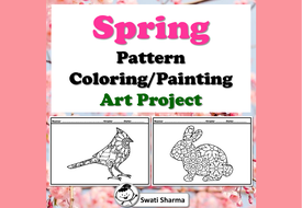 Spring Pattern Coloring, Painting Art Project