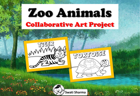 Zoo Animals Collaborative Art Project