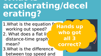 KS3 Acceleration and investigation lesson 3