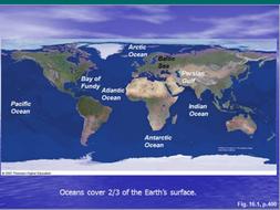 Oceans:  Major elements and properties  of ocean