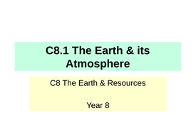 Activate KS3 Science - C8 The Earth & Resources (New V2.0)