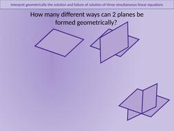 A2 level Further Maths - Plane Geometry + Matching
