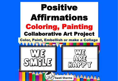 Positive Affirmations, Growth Mindset, Posters, Art Project