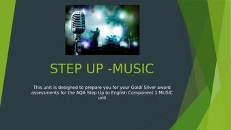 AQA STEP UP to ENGLISH AQA: Component 1 scheme of work MUSIC