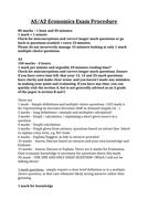 Edexcel Economics AS & A2 - Exam Analysis and Advice