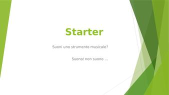 Italian GCSE topic: Music
