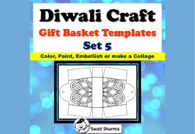 Diwali Craft, Gift Basket Templates, Pattern Coloring, Set 5