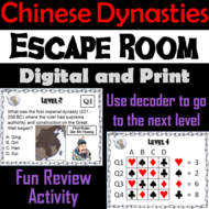Ancient Chinese Dynasties Activity: Escape Room - Social Studies