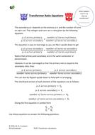 GCSE Physics - Transformer ratio equations