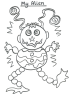 My Alien - colouring picture
