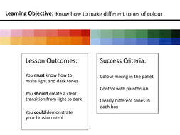 KS2/3 Colour Theory - Creating Tones