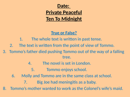 Private Peaceful - Chapter/Lesson 4