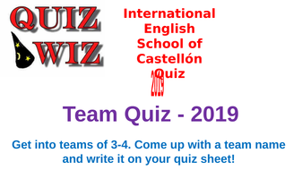 2019 End of Year Quiz