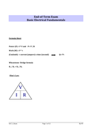Electrical Fundamental Exam  with solution for Y11 and 12 students