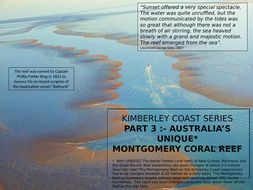 WHY IS THE MONTGOMERY CORAL REEF OF NW WESTERN AUSTRALIA UNIQUE -KIMBERLEY COAST PART 3