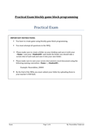 Blockly Game block programming Practical Exam with Answer for Year 6/7/8