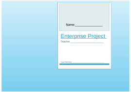 Business and Enterprise Project Booklet: GCSE Business, A Level Business