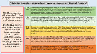 4. The Myth of Merry England -OCR GCE J411 9-1 The Elizabethans 1580-1603 Section 4