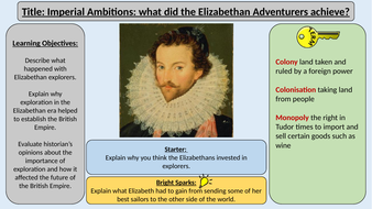 1. Imperial Ambitions -OCR GCE J411 9-1 The Elizabethans 1580-1603 Section 5