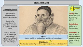 2. John Dee -OCR GCE J411 9-1 The Elizabethans 1580-1603 Section 5