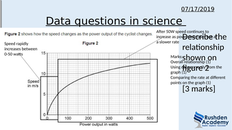 Data in science intervention lesson