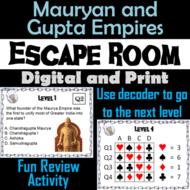 Mauryan & Gupta Empires Activity: Social Studies Escape Room Ancient India Unit