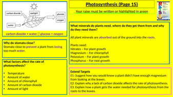 KS3 Science Homework Booklets with marking slides and extension tasks -  matches Activate topics