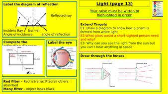 Y7-Homework-RAISE---Light.pptx
