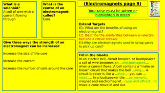 Y9-Homework-RAISE---Electromagnets.pptx