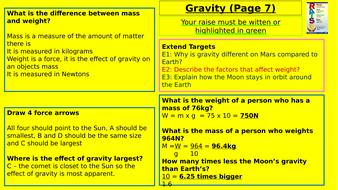 Y7-Homework-RAISE---Gravity.pptx
