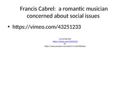 A French songwriter : Francis Cabrel