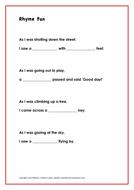 Rhyme Fun - fill the gaps!