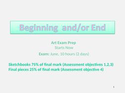 GCSE Art - Beginning & End Exam Theme Intro