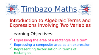 Algebraic Terms and Expressions with 2 Variables